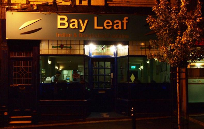 Bay Leaf Indian Restuarant Cardiff exterior shop front photo