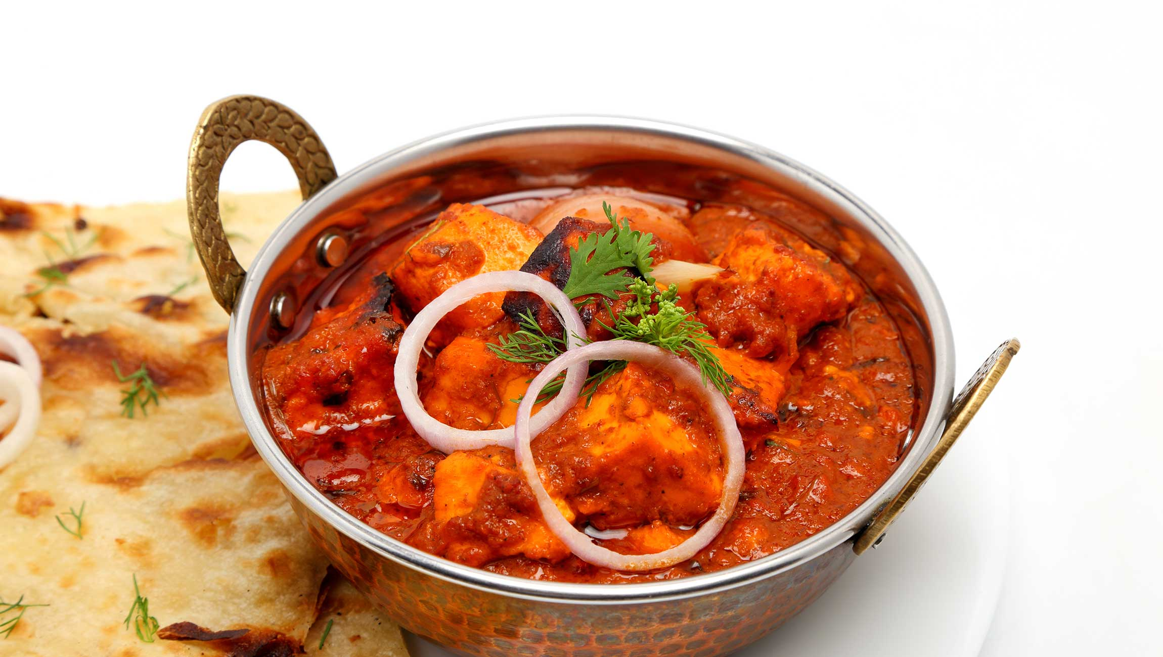 authentic indian curry with a chapati